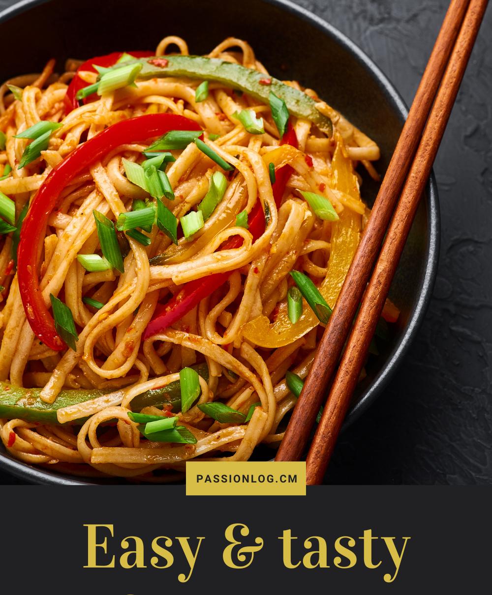 Easy and tasty schezwan chicken noodles