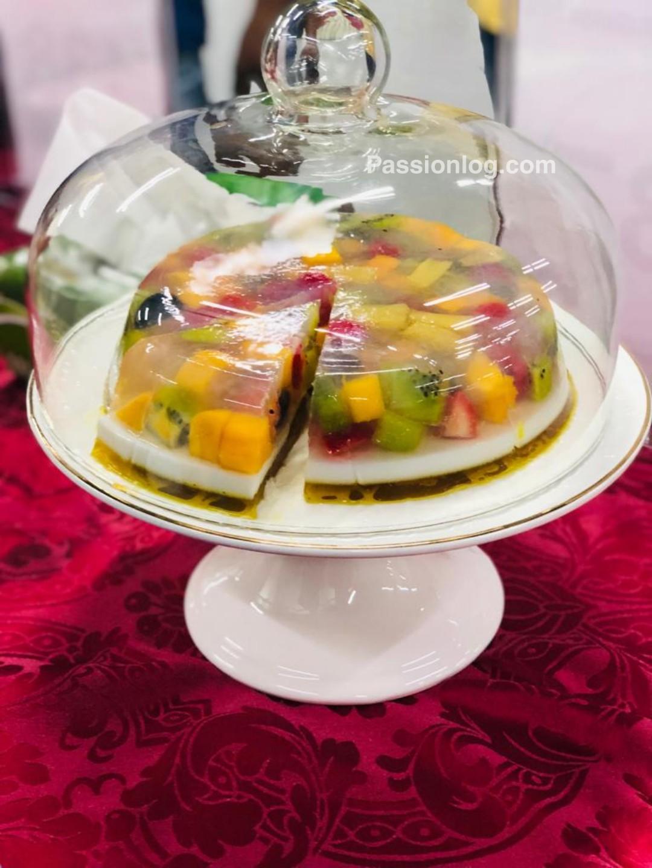 agar agar fruit cake recipe, china grass feuit cake recipe, jeelly fruit cake recipe